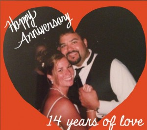 It's been 14 years of marital bliss'ish'ness…