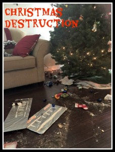 Gingerbread destruction