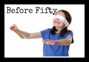kid with a blindfold